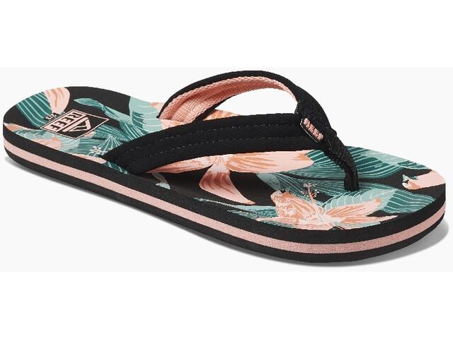 Reef Ahi Sandalias Niñas, negro/rosa